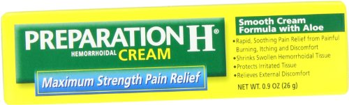 Preparation H Cream Maximum Strength, 0.9-Ounce Box (Pack of 3)