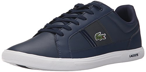 Lacoste Men's Europa Lcr3 Spm Fashion Sneaker Fashion Sneaker, Navy/dark Grey, 8 M US