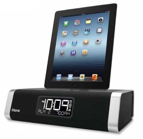ihome dock ihome app enhanced dual alarm stereo clock radio docking station with remote for. Black Bedroom Furniture Sets. Home Design Ideas