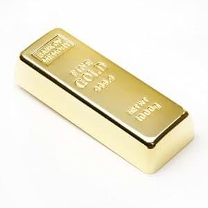 """aricona N°121 """"Fun Stick"""" USB Speicherstick als Goldbarren EDEL mit 16GB Speicherkapazität, USB 2.0/1.1, lustiger USB Stick Plug&Play mit langer Datenhaltbarkeit"""