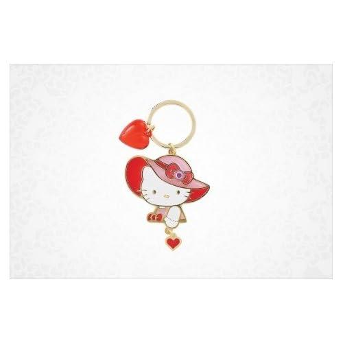 Hello Kitty Charm Keyring Heart