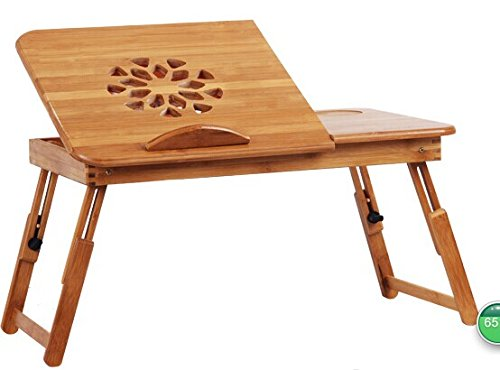 Check Out This Natura-Bam TM Multi-functional Laptop and Reading Bamboo Stand with Internal Cooling ...