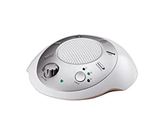 HoMedics SS-2000E Sound Spa Nature Sounds Machine with 6 Nature Sounds, Silver