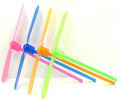 (ココ)COCO おもちゃ 竹とんぼ キラキラ 光って 空を飛ぶ 手回し クラシック モダン トイ お楽しみカラー 【1点】
