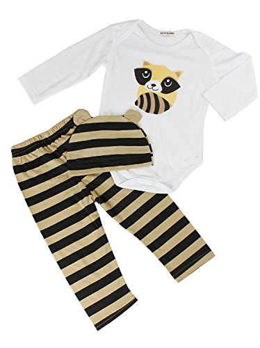 3pcs Kids Baby Boys Girls Newborn Costumes Sets-Raccoon