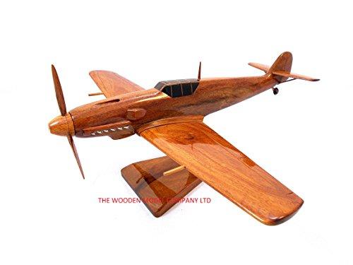 Fighter-Messerschmitt-Bf-109-Bundeswehr-Flugzeug-Motiv-Holz-Schreibtisch-Modell-Mahagoni