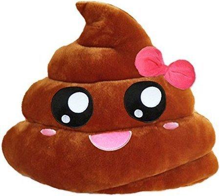 GODHL Soft Emoji Emoticon Cushion Pillow Stuffed Plush Toy Brown Pink Poop