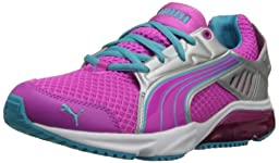 PUMA Powertech Blaze M Junior Training Shoe (Big Kid) ,Fluorescent Magenta/Blue Atoll/Puma Silver,6.5 M US Big Kid