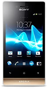 Sony Xperia miro Smartphone (8,9 cm (3,5 Zoll) Touchscreen, 5 Megapixel Kamera, Android 4.0) weiß/gold