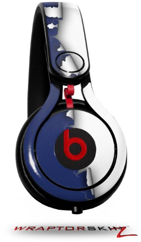 Ripped Colors Blue White Decal Style Skin (Fits Genuine Beats Mixr Headphones - Headphones Not Included)