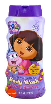Dora The Explorer Body Wash 16 oz. Cherry Blossom (3-Pack) with Free Nail File