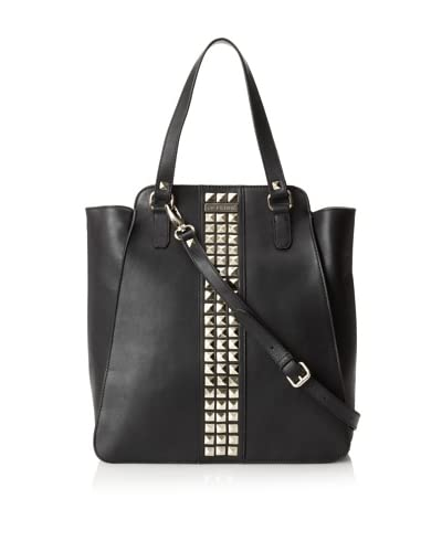 GF Ferré Women's Studded Shopper, Black