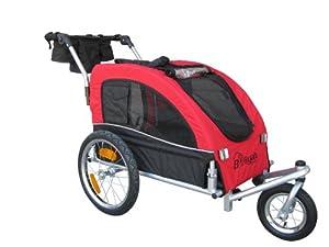 Booyah Medium Dog Pet Bike Trailer Pet Trailer and Stroller Red