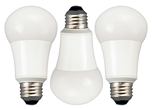TCP 60 Watt Equivalent 3-pack, LED A19 Standard Shaped Light Bulbs, Energy Star Certified, Non-Dimmable, Soft White, RLAS10W27KND3 (Lightbulb Shaped Led compare prices)