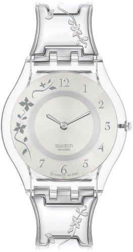 Swatch Ladies Climber Flowery Silver Dial Bracelet Watch