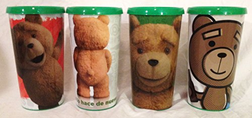 ted-2-mexico-movie-theater-exclusive-44-oz-plastic-cup-set-of-4-with-lids-great