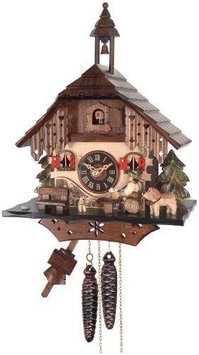River City Clocks One Day Cottage Cuckoo Clock, Beer Drinker Raises Mug