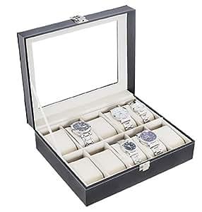 腕時計収納ケース 10本用 コレクション ケース ウォッチ ボックス PUレザー ご自慢のコレクションの保管に