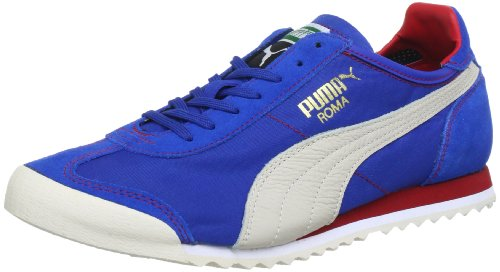Puma Roma Slim Nylon Low Top Mens Blue Blau (snorkel blue-white swan-r 11) Size: 4 (37 EU)