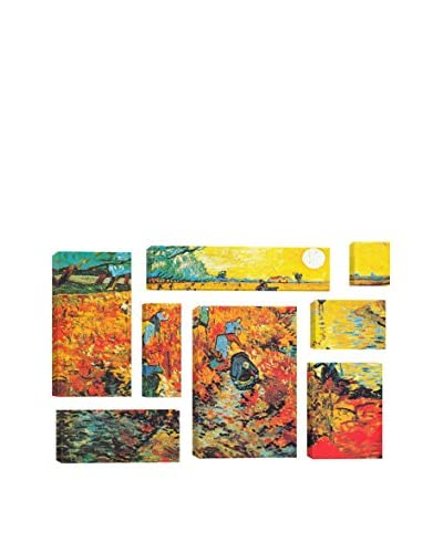 Vincent Van Gogh The Red Vineyard At Arles 8-Piece Canvas Print Set