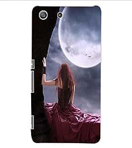ColourCraft Girl Design Back Case Cover for SONY XPERIA M5 E5603 / E5606 / E5653
