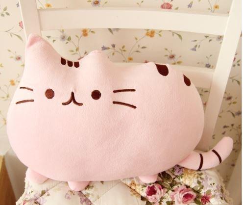 フワフワ 柔らか かわいい ネコ クッション 抱き枕 オフィス用にも ライトピンク