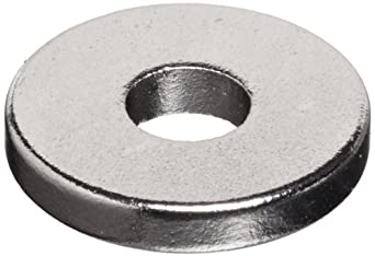 """Neodymium Rare Earth Magnet Rings, 3/8"""" Outer Diameter, 1/8 """" Inner Diameter, 1/16"""" Thick (Pack of 12)"""