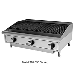 New Toastmaster 24-inch Gas Radiant Charbroiler Counter 2 Burner Iron Char 24""