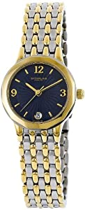 Stuhrling Original Women's 604.12226 Classic Ascot Marquis Swiss Quartz Ultra Slim Date Two Tone Watch