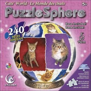 Cheap Fun Unicorn Enterprises A1357_6 Cat World 6 Inch Puzzle Sphere 240 pc puzzle (B00133ZKTY)