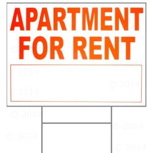 18 x 24 apartment for rent sign w h stake home improvement. Black Bedroom Furniture Sets. Home Design Ideas