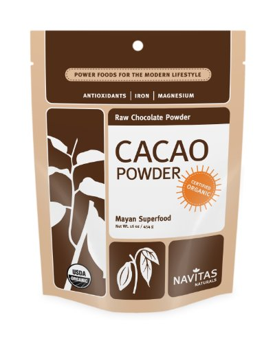 Navitas Naturals, Raw Chocolate Powder, Organic, 16-Ounce Pouches (Pack of 2)