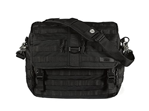 Mission Critical - Men's Messenger Diaper/Laptop Bag - Made for Dads - Black