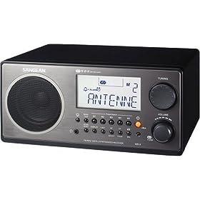 Sangean WR-2 Digital AM/FM Tabletop Radio, Black