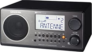 Sangean WR-2 Digital AM/FM Tabletop Radio, Black