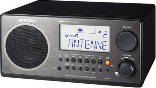 Sangean WR-2 Digital AM/FM Tabletop Radio (Black)