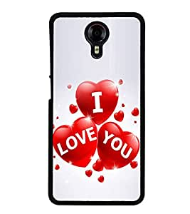 I Love You 2D Hard Polycarbonate Designer Back Case Cover for Micromax Canvas Xpress 2 E313