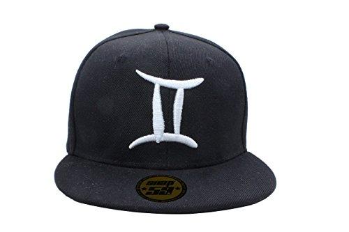 baseball-cap-hat-zodiac-12-constellation-hip-hop-snapback-logos-black-white-sternzeichen-kette-lowe-
