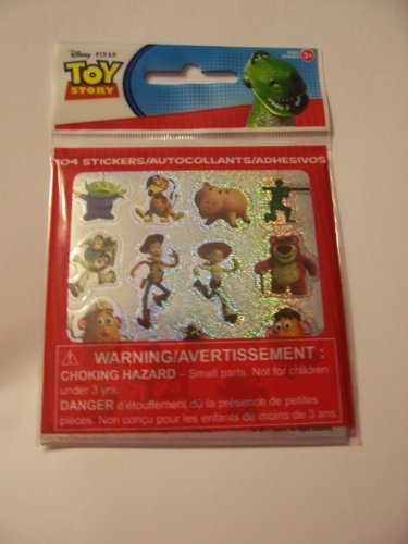 Disney Toy Story 104 Glittery Stickers ~ Alien Upper Left