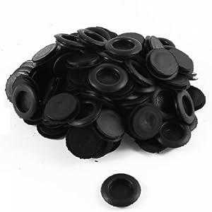 Amazon.com - 100 piezas Negro Individual laterales de goma ojales del