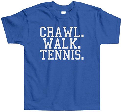 Threadrock Little Boys' Crawl Walk Tennis Toddler T-Shirt 3T Royal Blue front-1041063