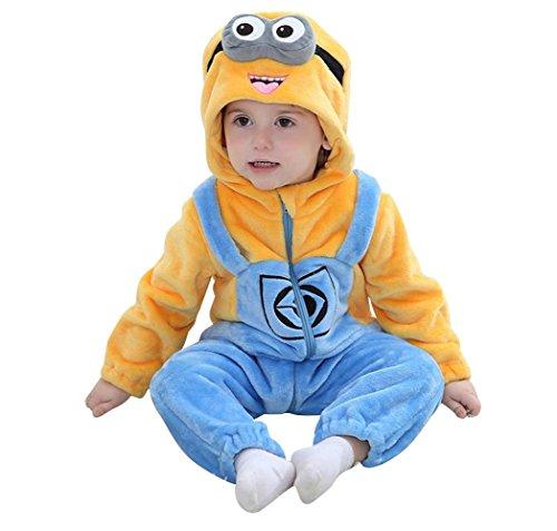 Baby Cosplay Animal Romper Animal Onesie sleepwear toddler Romper (XS (66-75cm), Minions) (Minion Costumes Girls)