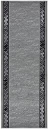 Custom Runner Meander Roll Runner 26 Inch Wide x Your Length Size Choice Slip Skid Resistant Rubber Back 5 Color Options (Grey, 7 ft x 26 in)