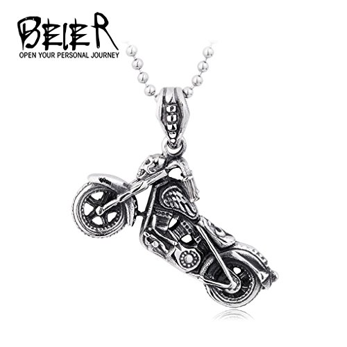 Motorcycle necklace Pendant for Men Stainless Steel Jewelry