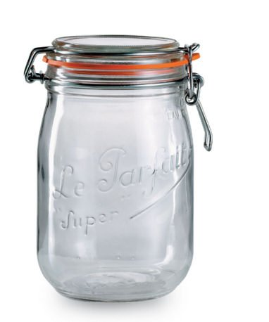 Le Parfait Traditional Bellied Jar 1l / 11 x 17.5cm, Kitchen Storage Jars and Containers Range