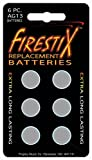 Grover FireStix AG13 Replacement Batteries 6 Per pack