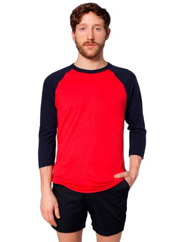 american-apparel-unisex-poli-algodon-manga-raglan-3-4-bb453-red-navy-s