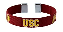 NCAA USC Trojans Ribbon Band Bracelet