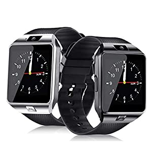 321OU Smart Watch Bluetooth Smart Watch Fitness Tracker Touchscreen iOS Android Compatible with Camera Pedometer Sleep Monitor Call/Message Music for Men Women Kids (Black) (Color: Black)