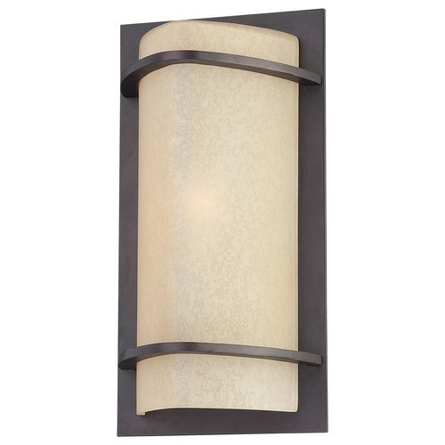 The Great Outdoors Go 9821 1 Light Outdoor Wall Sconce From The Valencia Bay Col, Kinston Bronze